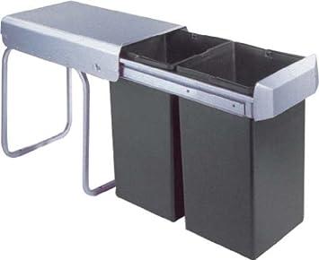 Wesco poubelle encastrable double 1 755611 11 - Hailo poubelle encastrable cuisine ...