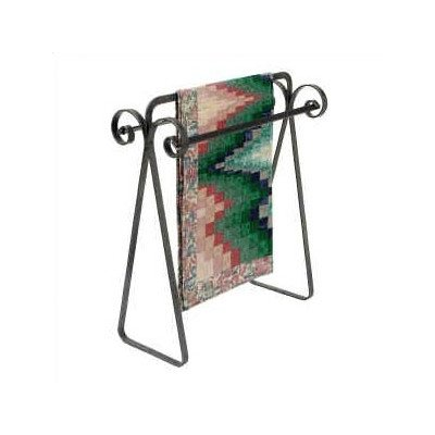 Enclume Premier Scrolled Quilt Rack, Hammered Steel (Iron Quilt Stand compare prices)