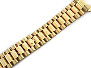 Mens 14ky President Watch Band for Rolex 19mm Date