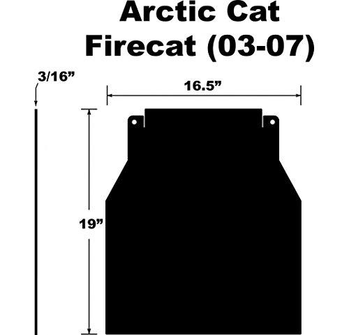 Proven Design SF-037FCPB Snowmobile Mud Flap Arctic Cat Firecat/Sabercat 2003-2007 Plain Black Snow Flap (Plain Mud Flaps compare prices)