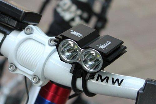 Foco LED de 5000 lúmenes para bicicleta de montaña