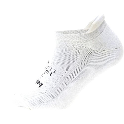 Balega Hidden Comfort Tab Running Sock,White Large