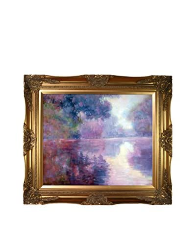 Claude Monet's Misty Morning on the Seine with Victorian Gold Frame, Multi, 28″ x 32″