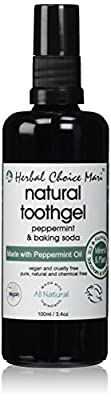 Herbal Choice Mari Natural Tooth-Gel Peppermint + Baking Soda 100ml/ 3.38oz