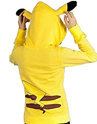 MagicGo Pokemon Pikachu Hoodie Jacket Coat Various Pattern With Ear Zipper Unisex Family Outerwear Animal Cosplay Costumes