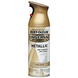 Rust-Oleum 245221 UNIVERSAL Metallic Spray Paint, Pure Gold, 312 grams