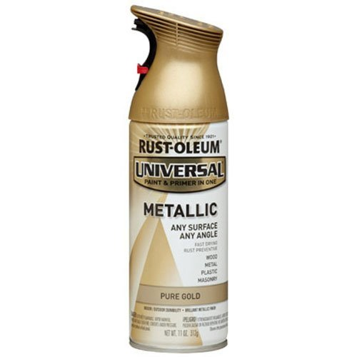 Rust-Oleum 245221 Universal All Surface Spray Paint, 11-Ounce, Metallic Pure Gold (Gold Spray Paint compare prices)