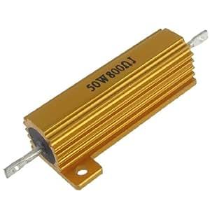 Amazon.com: 50W Watt 800 Ohm Chasis Mounted Aluminum Case Resistor