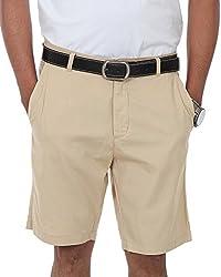 Irene Men's Cotton Shorts (Ire-mens-shortsbeige_32,Beige,32)
