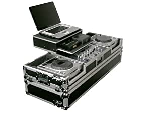 Odyssey FZGS19CDJW Flight Zone Glide Style Ata Dj Coffin With Wheels For A 19 Mixer And Two Large Format Cd Players