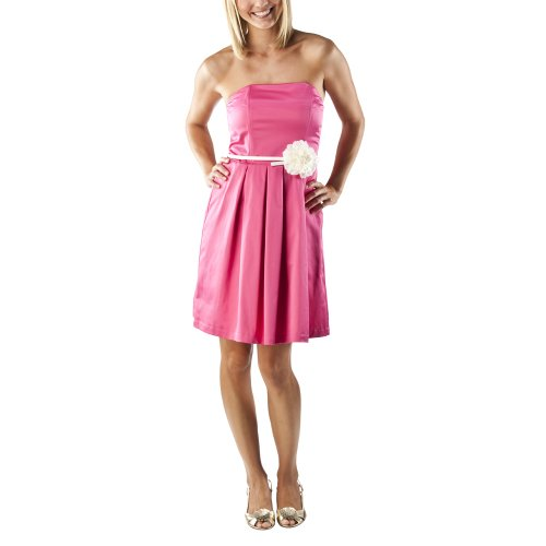 Merona® Collection Women's Strapless Dress w/Flower Belt - Pink