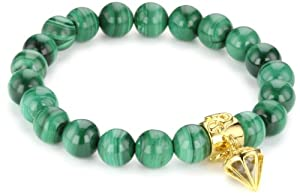 """Simmons Jewelry Co. """"Russell Simmons"""" Malachite Green Charity Bracelet, 7''"""