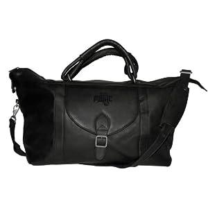 NBA Orlando Magic Black Leather Top Zip Travel Bag by Pangea Brands