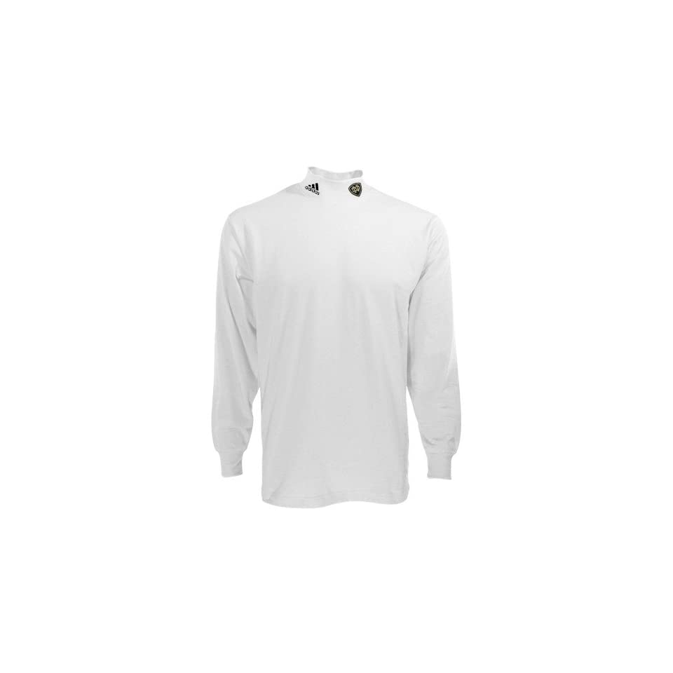 adidas Notre Dame Fighting Irish White Team Logo Mock Neck Long Sleeve Shirt