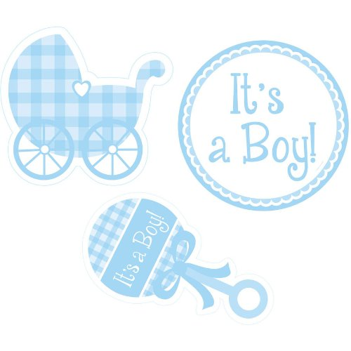 It's a Boy Gingham Cutout Set
