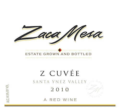 2010 Zaca Mesa Winery Z-Cuvee Santa Barbara County, Santa Ynez Valley 750 Ml