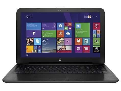 HP 255 G4 Notebook, Processore AMD E1-6010, Scheda Video Radeon R2 GPU, CD-DVD, Senza Sistema Operativo, Nero