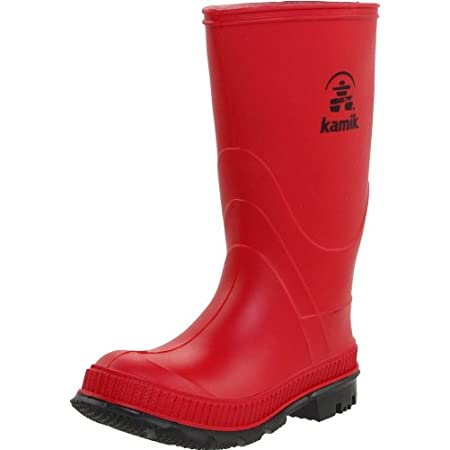 This rain boot from Kamik features sturdy tread and a classic look.