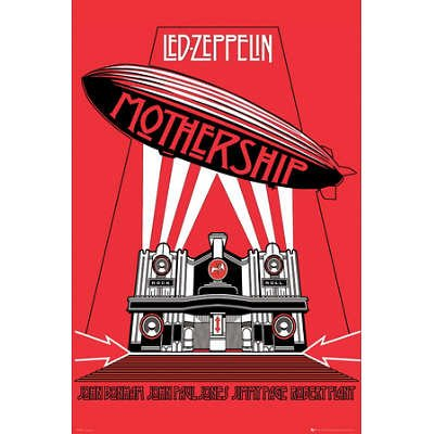 Laminated Led Zeppelin -Mothership Poster - 24X36