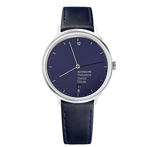 Mondaine HELVETICA Bleu Marine luz Unisex Reloj de pulsera cuarzo de 26mm mh1l2240ld