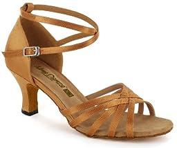AlmaDanza Women\'s Latin Dance Shoes (6.5, Tan)