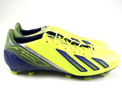 Adidas F50 Adizero TRX FG Messi Leather Electricity/Silver Q33847 Men's Soccer Cleats Boots (Size 13)