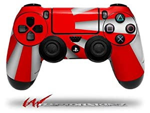 Rising Sun Japanese Flag Red - Decal Style Wrap Skin fits Sony PS4 Dualshock 4 Controller - CONTROLLER NOT INCLUDED