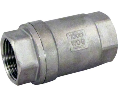 Duda Energy VCV-WOG1000-F100 Vertical Check Valve, 304 Stainless Steel, 1
