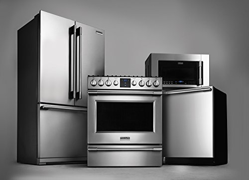 Frigidaire Professional Appliance Package with French Door Refrigerator, Convection Range, Deluxe Dishwasher and Over-the-Range Microwave (FPGH3077RF, FPBG2277RF, FPID2497RF, FPBM3077RF) (Kitchen Appliances Refrigerators compare prices)