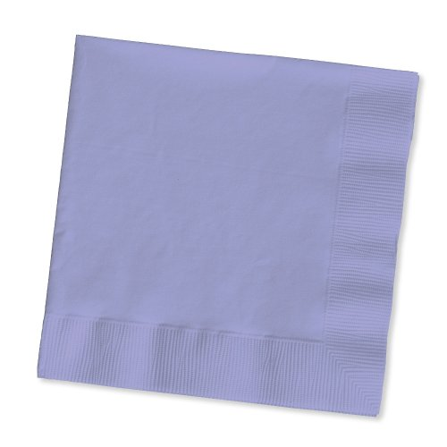 Creative Converting Touch of Color 2-Ply 50 Count Paper Lunch Napkins, Luscious Lavender