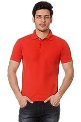 Men's Polo T shirt (Large)_TM-1591RED-L