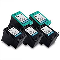 Printronic Remanufactured Ink Cartridge Replacement For HP 92 And HP 93(3 Black 2 Color) - C9362WN C9361WN