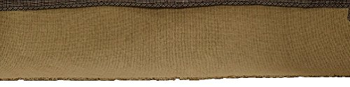 New Deluxe Burlap Natural Tan Queen Bed Skirt