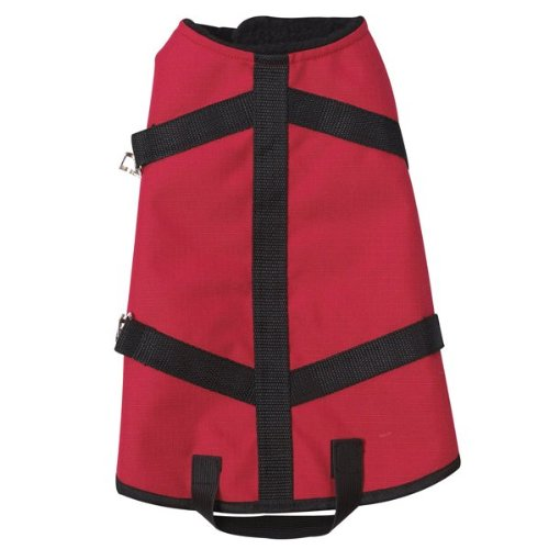 Casual Canine Polyester Ripstop Blanket Dog Coat, Small, 12-Inch, Red
