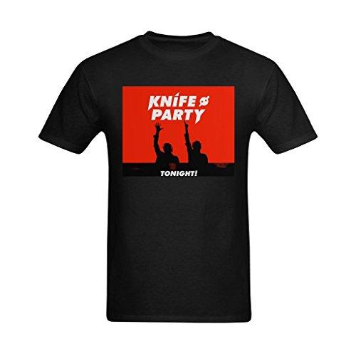Welvga Men's Knife Party Concert Poster Fashionable T Shirt 2XL