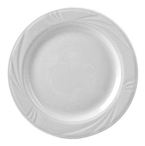 H & H Arcadia Assiette à pain, 16.5cm, porcelaine, blanc