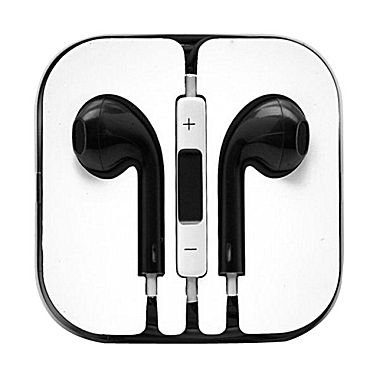 Black - Headphones W/ Mic & Vol Contrl Ear Pod Headset For Iphone/Ipod/Ipad