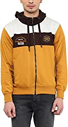 OKANE Men's Fleece Sweatshirt (51656, Mustard, XL)
