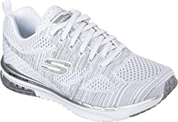 Skechers Women\'s Skech-Air Infinity Training Shoe,Stand/White/Silver,US 9.5 M