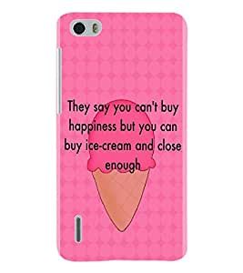 ColourCraft Quotes Back Case Cover for HUAWEI HONOR 6