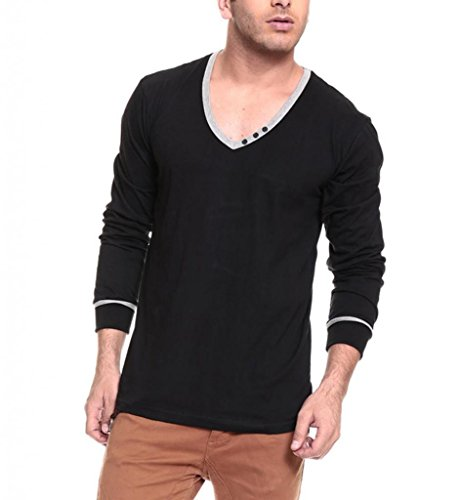 IZINC-Mens-V-Neck-Full-Sleeve-Cotton-T-Shirt