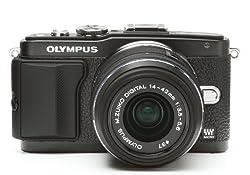 Japanhobbytool Olympus Pen E-PL5 & E-PL6 Camera Leather Decoration Sticker Leica1 type 4008 Black