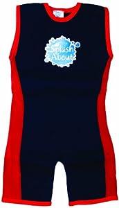 Splash About neoprene Combie wetsuit (swimwear), Navy & Red, 2-4 years