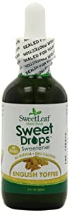 SweetLeaf Liquid Stevia, English Toffee, 2-Ounce Bottles (Pack of 2)