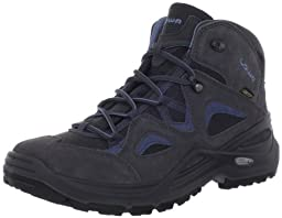 Lowa Women\'s Bora GTX Qc WS Hiking Boot,Anthracite/Blue,10.5 M US