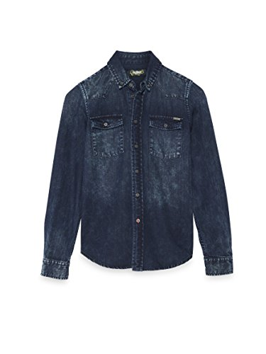 Colorado Denim Joshua, Camicia Bimba, Blau (Dark Blue Wash 801), 16 Anni