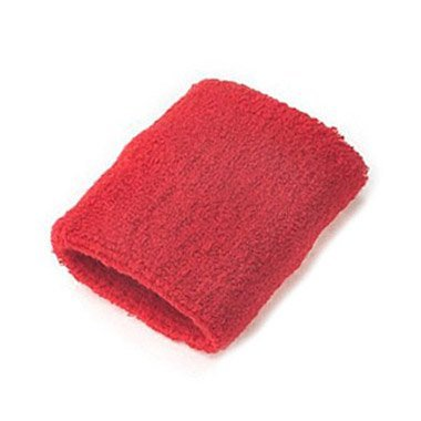 A Pair Of Bobo Sportline Wrist Band, Terry Cloth Wristband, Wrist Sweat Band, Sports Sweatband, Red