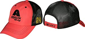 Jeff Gordon 2014 NASCAR Axalta Racing #24 Adjustable Mesh Trucker Hat -Red Black by Checkered Flag