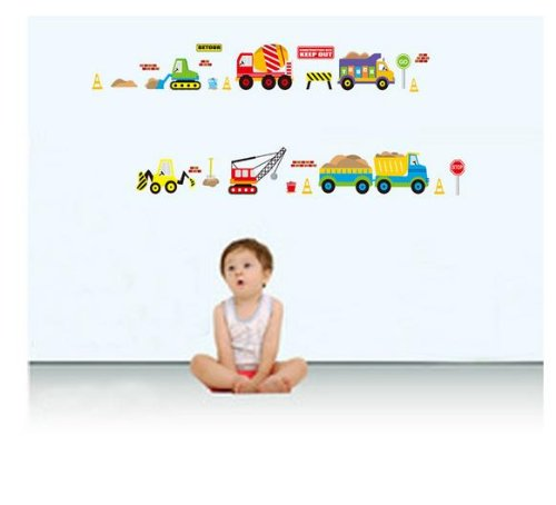 Transport Vehicle Wall Decal For Kid'S Room Vehicle Themed Nursery Wall Decor Baby Boys Children'S Bedroom Sticker front-500747
