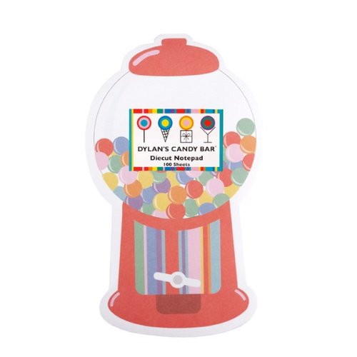 Dylan's Candy Bar Die Cut Notepad - Gumball Machine